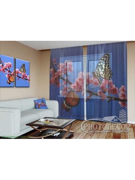 """3D ФотоТюль """"Две бабочки"""""""