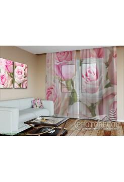 """3D Фото Тюль """"Королевские розы"""""""
