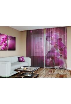 """3D ФотоТюль """"Сливовая орхидея"""""""