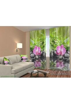 """3D ФотоШторы """"Орхидеи на камнях"""""""