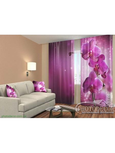 """3D ФотоШторы """"Сливовая орхидея"""""""