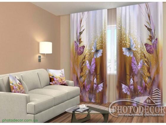 """3D ФотоШторы """"Бабочки и цветы"""""""