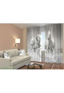 """3D ФотоШторы """"Тройка лошадей"""""""