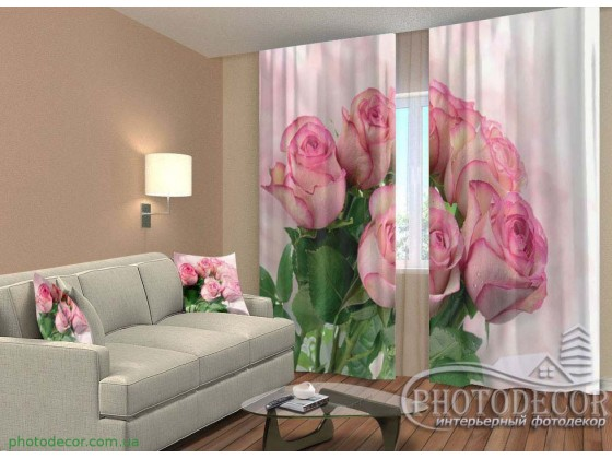 "3D ФотоШторы ""Букет роз"""
