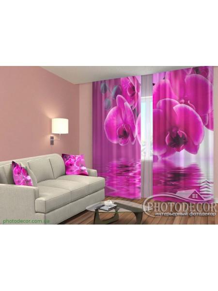 """3D ФотоШторы """"Малиновая орхидея"""""""