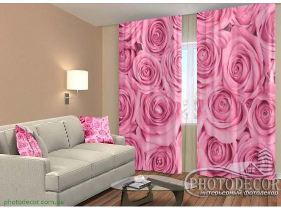 """3D ФотоШторы """"Миллион розовых роз"""""""