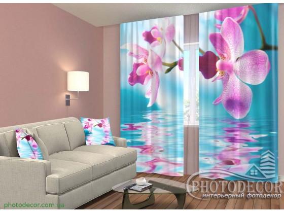 """3D ФотоШторы """"Небесные орхидеи"""""""