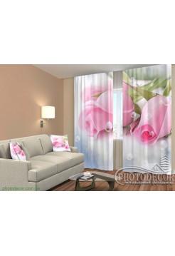 """3D ФотоШторы """"Розовая элегантность"""""""