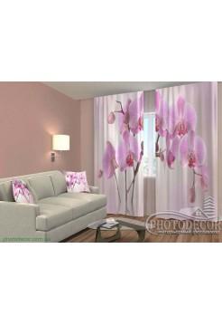 """3D ФотоШторы """"Розовая орхидея"""""""