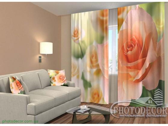 """3D ФотоШторы """"Розы невесты"""""""