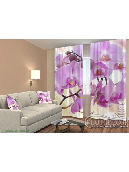 """3D ФотоШторы """"Ветка малиновой орхидеи"""""""
