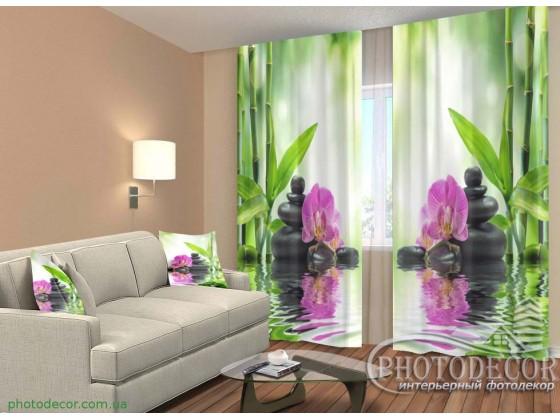 "3D ФотоШторы ""Орхидеи на солнце"""