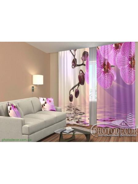 """3D ФотоШторы """"Сиреневая орхидея"""""""