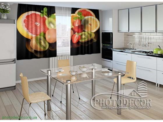 """Фото шторы для кухни """"Фрукты"""""""