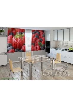 """Фото шторы для кухни """"Вкусные фрукты"""""""