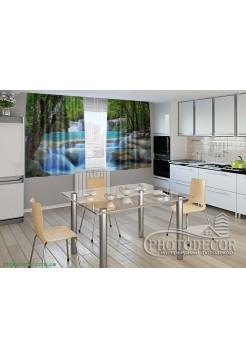 """Фото шторы для кухни """"Водопад"""""""
