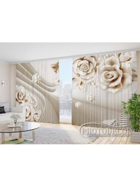 """Фото Шторы  для зала """"3D Розы 1"""""""