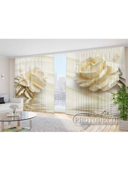 """Фото Шторы  для зала """"3D Розы"""""""