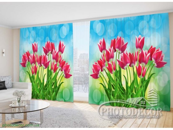 3D Фото Шторы с Тюльпанами. Уточнить стоимость Вашего размера и пожелания к макету можно по вайберу (ватсап) +380677372013.